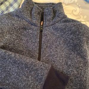 NWOT j crew fleece lined quarter zip